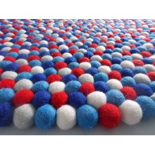 Mix Berry Felt Ball Rug