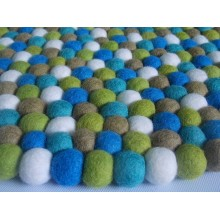 Cheerful Candy Felt Ball Rug