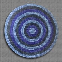 Spiral Color Band Felt Ball Rug