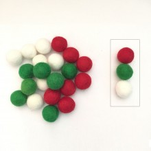 2cm Christmas Color Felt Ball Package