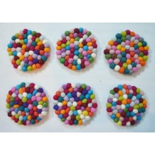 1000 pieces Mixed Beaded 2cm Felt Balls