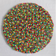 2cm Felted Spiral Design Felt Ball